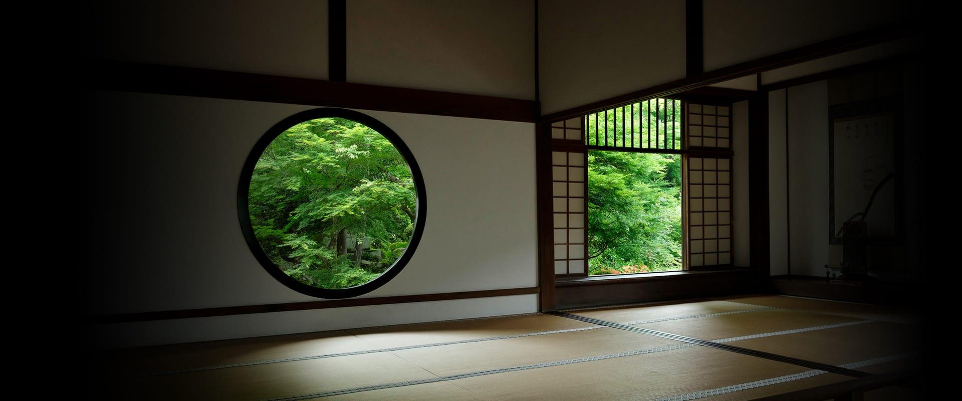 悟りの窓・迷いの窓|京都 源光庵|悟りの窓・迷いの窓の禅寺